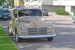 Chevrolet van Plymouth 1950, retro auto Royalty-vrije Stock Fotografie