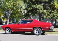 Chevrolet vermelho restaurado clássico Beaumont Imagem de Stock Royalty Free