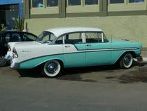 Chevrolet vert et blanc Bel Air à Lima Photographie stock libre de droits