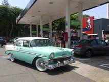 Chevrolet vert et blanc Bel Air à Lima Photo stock