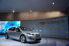 Chevrolet Volt. The Chevrolet Volt by GM on display at the 2009 North American International Auto Show (NAIAS) in Detroit, Michigan Royalty Free Stock Images