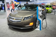 Chevrolet Volt car on display. Los Angeles, CA - November 19, 2014: Chevrolet Volt car on display on display at the LA Royalty Free Stock Photo