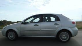 Chevrolet w zwolnionym tempie na Autobahn zbiory wideo