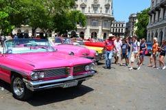 Chevrolets στην παλαιά Αβάνα, Κούβα Στοκ Φωτογραφίες