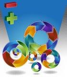 Chevron 3D Process Background Stock Image