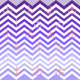 Chevron anchor preppy wallpaper pattern Royalty Free Stock Photography
