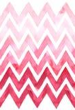 Chevron avec la gradation de couleur rose sur le fond blanc Modèle sans couture d'aquarelle Image libre de droits