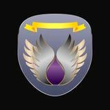 Chevron bajo la forma de escudo Foto de archivo libre de regalías
