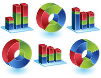 Chevron - Bar Chart Set Royalty Free Stock Photo