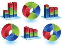Chevron - Bar Chart Set. Set of 3D process cycle images and bar charts Royalty Free Stock Photo