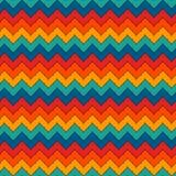 Chevron barra il fondo astratto Modello senza cuciture luminoso con l'ornamento geometrico classico Linee orizzontali di zigzag royalty illustrazione gratis