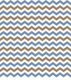 Chevron Blue & Brown Background. Chevron zig zag blue & brown pattern tiling background Stock Photography