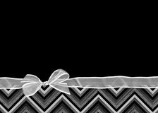 Chevron border with bow Royalty Free Stock Image