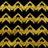 Chevron brilla dorato Fotografia Stock