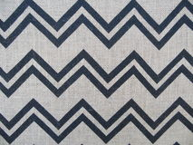 Chevron Burlap Fabric Horizontal Royalty Free Stock Photography