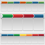 Chevron Chart Set Stock Photo