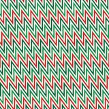 Chevron diagonal stripes background. Seamless pattern in Christmas traditional colors. Zigzag horizontal lines wallpaper. Chevron diagonal stripes abstract Stock Illustration