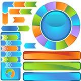 Chevron Diagram Icon Set Stock Photo