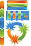 Chevron Diagram Icon Set Stock Image