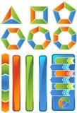 Chevron-Diagramm-Ikonen-Set vektor abbildung