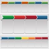 Chevron-Diagramm-Satz Stockfoto