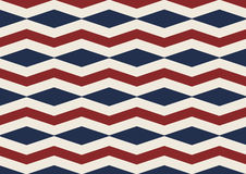 Chevron diamond old glory red, white and blue seamless patter. N. Vector backdrop of independence day, American flag and president`s day Royalty Free Stock Photo