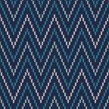 Chevron Fair Isle Pattern. Seamless Knitting Ornament Stock Photo