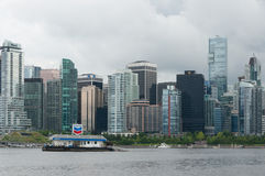 Chevron floating filling station - Vancouver Harbour Stock Image