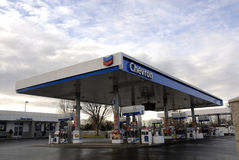 CHEVRON GAS STATION. Lewiston . Idaho state. USA_Chevron gas station  Idaho gas price is little higher in Idaho the  rest of 24 states where gas is less Stock Photo
