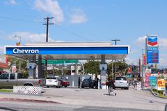 Chevron gas station Royalty Free Stock Images