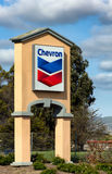 Chevron Gas Station Sign Stock Photography