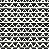 Chevron geometric seamless pattern hand drawn black and white colors background ready for print. Triangle Chevron geometric seamless pattern hand drawn black and stock illustration