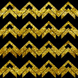 Chevron glitters golden Stock Photo