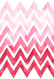 Chevron with gradation of pink color on white background. Watercolor seamless pattern. For fabric Royalty Free Stock Image