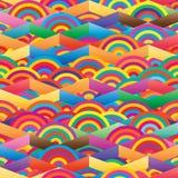 Chevron half circle colorful seamless pattern Royalty Free Stock Photo
