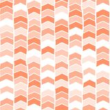 Chevron hand drawn seamless vector background coral pink orange white. Arrows abstract pattern. Repeating backdrop. For royalty free illustration