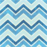 Chevron-Muster im Blau Stockbild