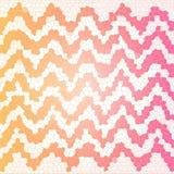 Chevron-Musterbuntglaseffekt-Rosa-, Orange und weißefarbe Stockfoto