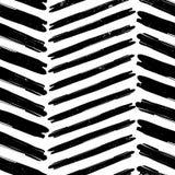 Chevron-Musterhand gezeichnet Stockbild