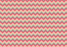 Chevron Naadloos Zoete roze & lite groen patroonontwerp als achtergrond Royalty-vrije Stock Afbeelding