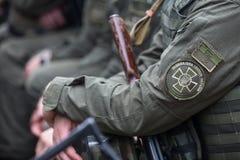 Chevron of National Guard of Ukraine. Royalty Free Stock Photos