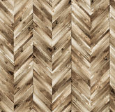 Chevron natural parquet seamless floor texture Royalty Free Stock Images