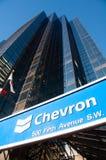 Chevron Oil. CALGARY, ALBERTA - NOV 14 - Chevron Oil s head office in Calgary Alberta on November 14, 2013 Chevron is one of the developers of the Alberta Oil stock photography