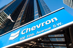 Chevron Oil Royalty Free Stock Image