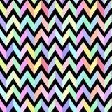 Chevron pastel colorful pattern on black background seamless vec. Chevron pastel colorful pattern on black background seamless Stock Image