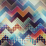Chevron patchwork pattern. Stock Photography