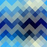 Chevron pattern with dots. Royalty Free Stock Image