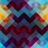 Chevron pattern with dots. Royalty Free Stock Photos