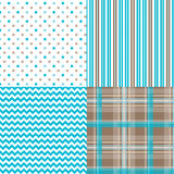 Chevron Pattern Dots Stripes Plaid Royalty Free Stock Images