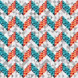 Chevron pattern in geometric style. Royalty Free Stock Photos